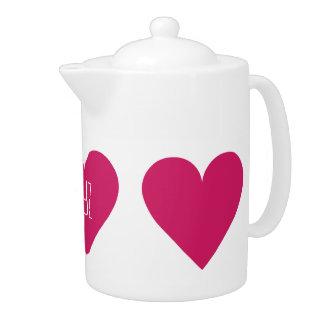 Red Heart Valentine custom teapot