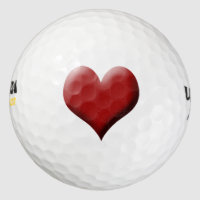 Red Heart Valentine Golf Balls