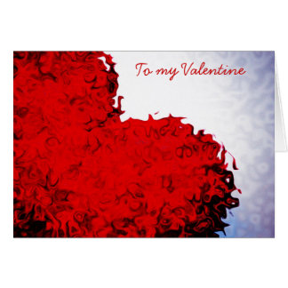 Red Heart Valentine's Day Card