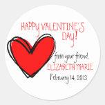 Red Heart-Valentine's Day Classic Round Sticker