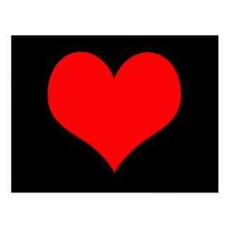 Red Heart Valentines Day Design Postcard