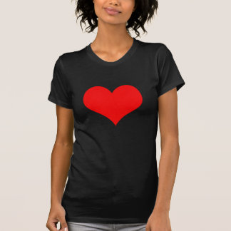 Red Heart Valentines Day Design T-Shirt