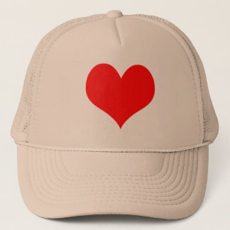 Red Heart Valentines Day Design Trucker Hat