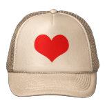 Red Heart Valentines Day Design Trucker Hat
