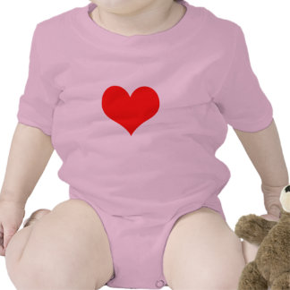Red Heart Valentines Day Design Baby Creeper