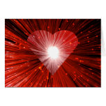 Red Heart 'Valentine's Day' greetings card