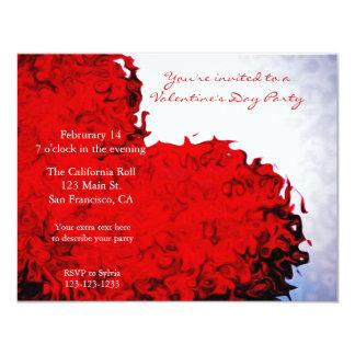 Red Heart Valentine's Day Invitation