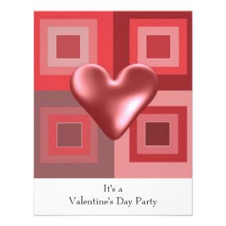 Red Heart Valentines Day Invitation