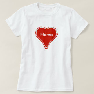 Red heart waiting for a name T-Shirt