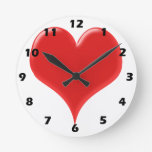 Red Heart Wall Clocks