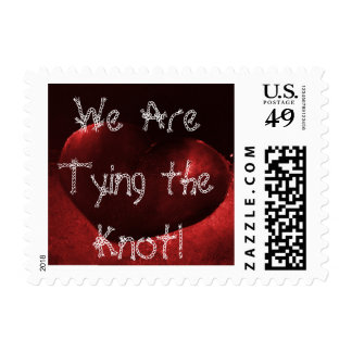 Red Heart We Are Tying the Knot Postage