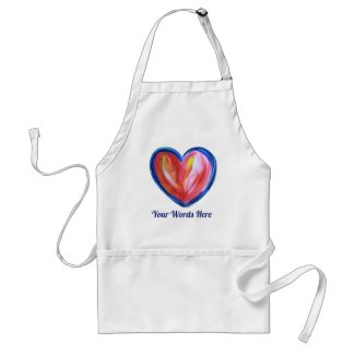 Red Heart with Hope Art Custom Apron