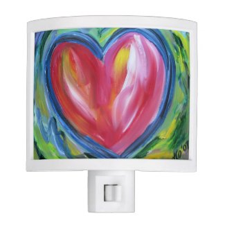 Red Heart with Hope Art Night Light Art Lamp