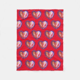 Red Heart with Hope Soft Fleece Throw Blanket