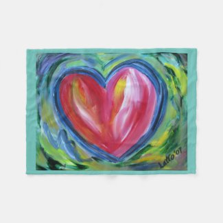 Red Heart with Hope Soft Fleece Throw Blankets