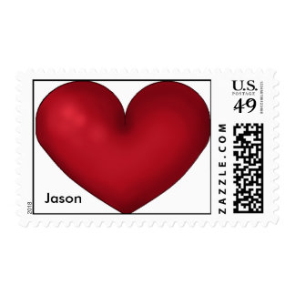 Red Heart,With your name Stamps