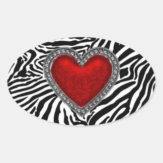 Red Heart Zebra Envelope Seal Party Favor Labels Sticker