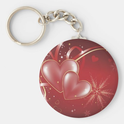 Red Hearts2 love relationships wallpaper Basic Round Button Keychain