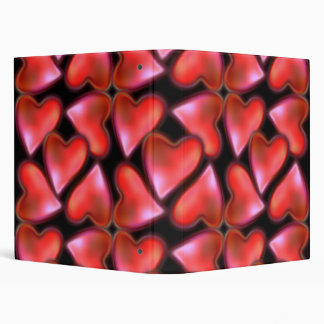 Red Hearts 3 Ring Binder