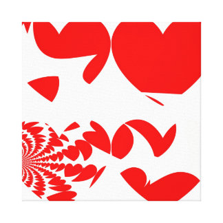 Red Hearts Abstract Canvas Print