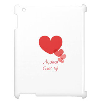 Red Hearts Against Gravity iPad Cases