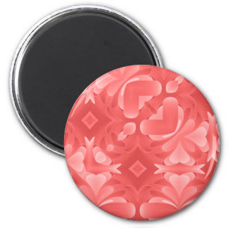 Red Hearts and Diamonds Magnet