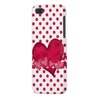 Red Hearts and Dots iPhone 5 Case