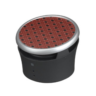 Red Hearts And Dots Plaid Pattern Speaker