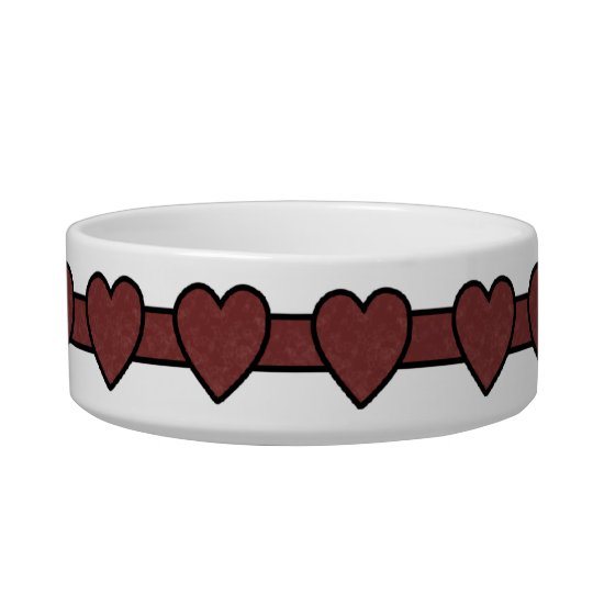 Red Hearts - Animal Lover Bowl