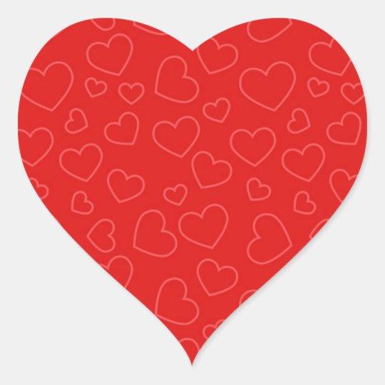 Red Hearts Background Heart Sticker
