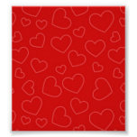 Red Hearts Background Print