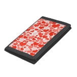Red Hearts Background Trifold Wallet