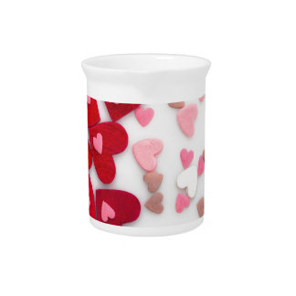 red hearts beverage pitcher