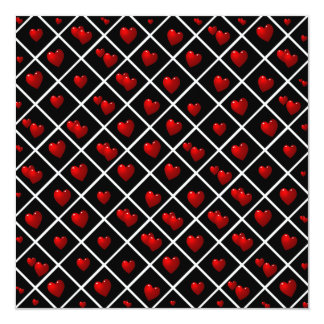 Red Hearts Black Diamonds Card