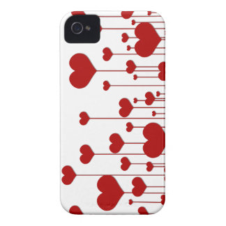 Red Hearts Blackberry Bold Case Mate