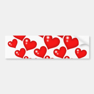Red Hearts Bumper Sticker