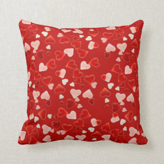 RED HEARTS by SHARON SHARPE Throw Pillow