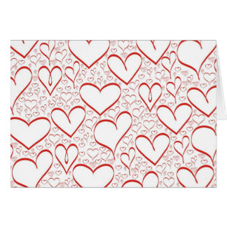 red hearts card