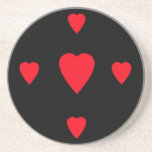 Red Hearts Coaster
