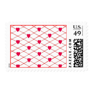 Red Hearts Criss Cross Quilt Pattern Stamps