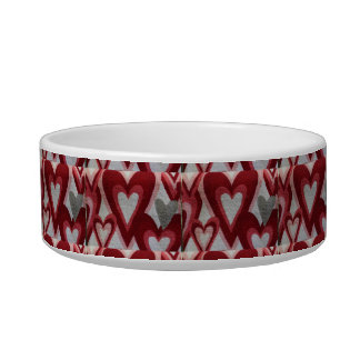 Red Hearts Design Bowl