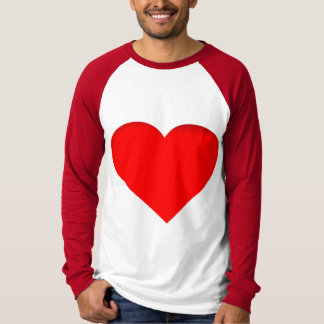 Red Hearts Double Print Design T-Shirt