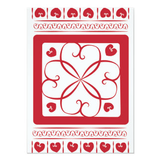 Red hearts everywhere card
