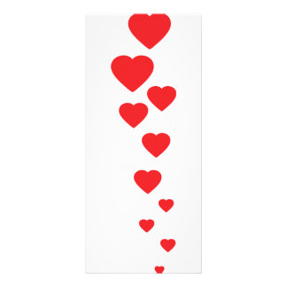 red hearts flying to heaven icon rack card