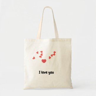 Red hearts for love on Valentine's Day I love you Tote Bag