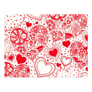 Red Hearts for Valentine's Day Postcard