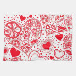 Red Hearts for Valentine's Day Towel