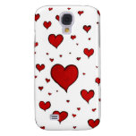 Red hearts galaxy s4 cases