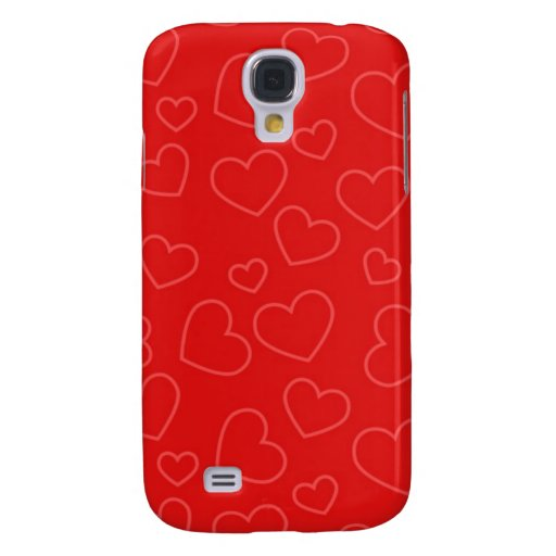 Red Hearts Galaxy S4 Covers