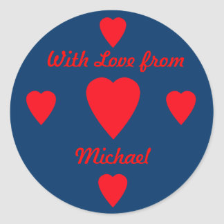 Red Hearts Gift Sticker
